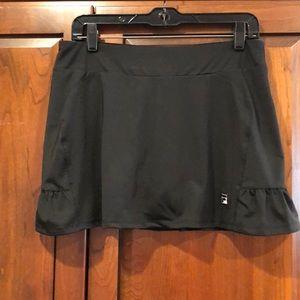 Fila black medium tennis skirt spandex guc flirty